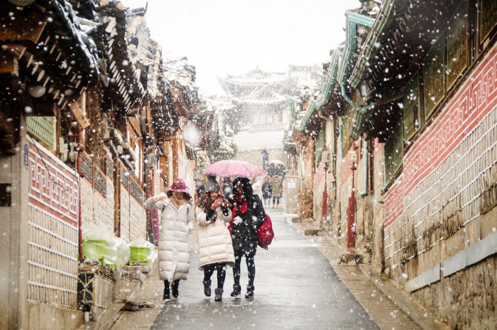 Bukchon in the Snow